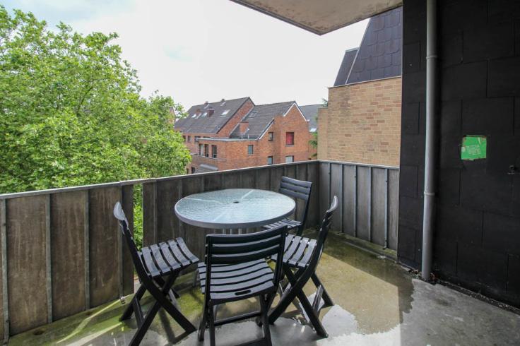 Appartement transformé en 3 kots avec terrasse